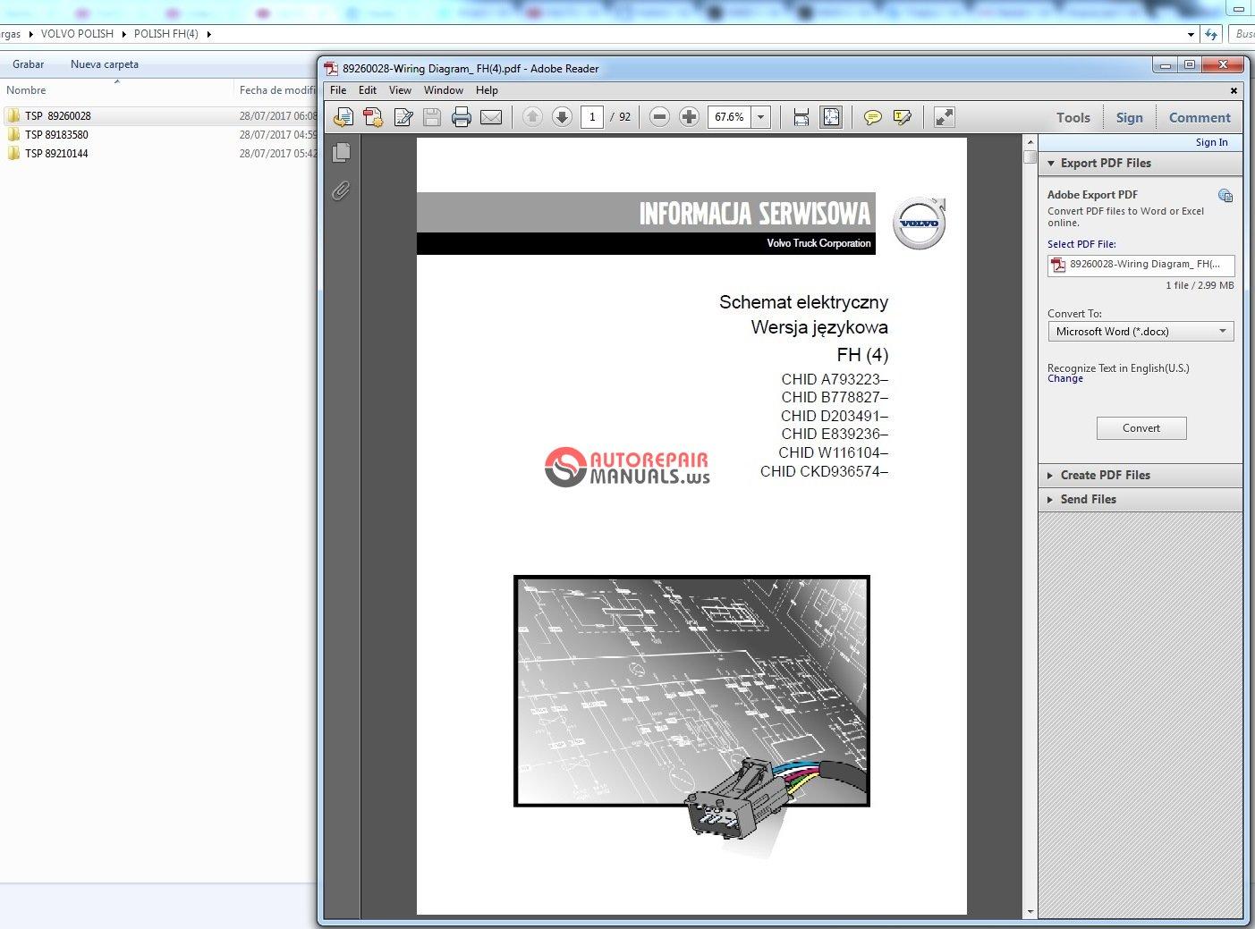 Volvo Wiring Diagram Fh 4  Fm 4  Fe Fe 3  Fl Fl 3  Fl6 Fm Fh Fh12 Language Polish