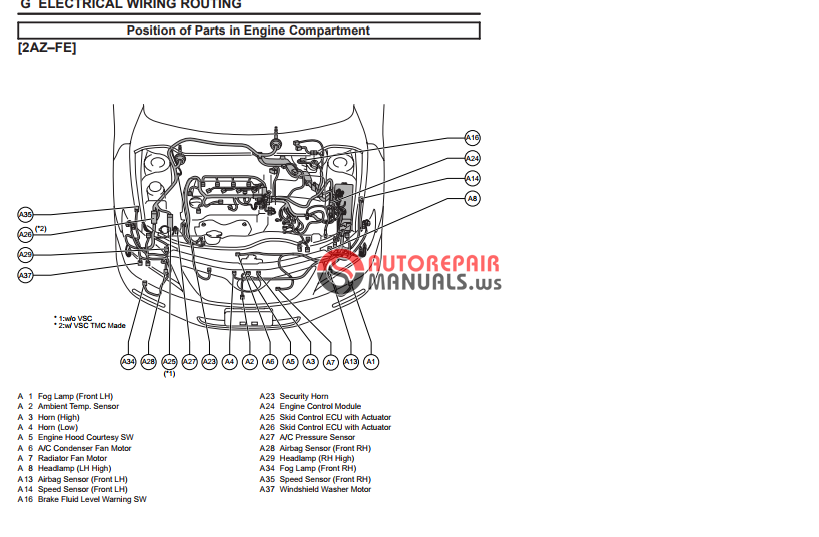toyota camry 2007 ewd electrical wiring diagram