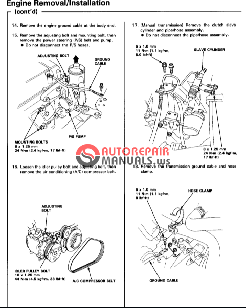 acura honda integra 94 service manual