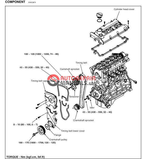free download  hyundai coupe workshop manual  engine g4gc