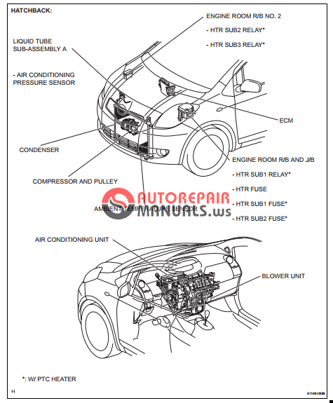 free download  toyota yaric repair manuals  air