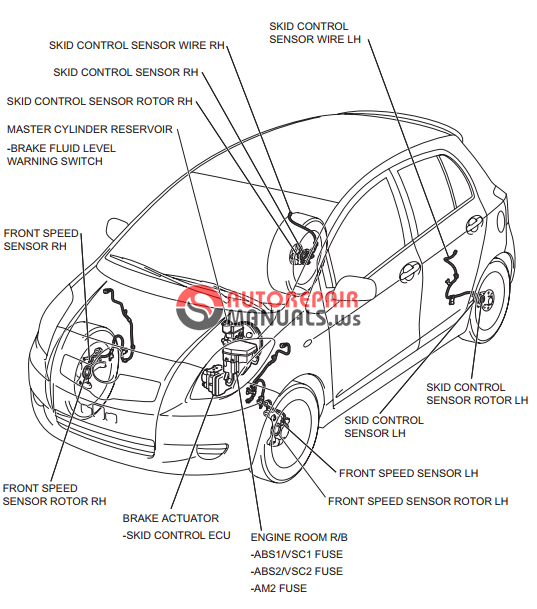 free download  toyota yaric repair manuals  brake control