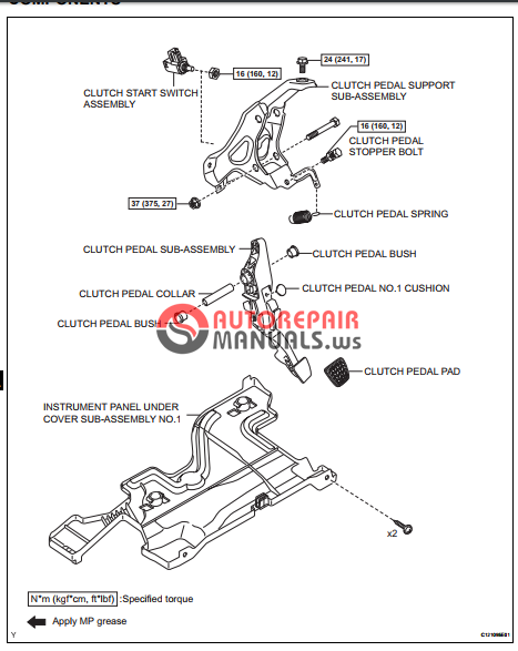 free download  toyota yaric repair manuals  clutch