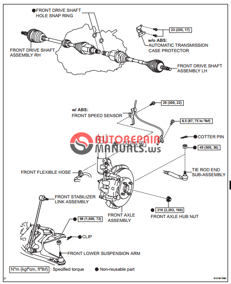 free download  toyota yaric repair manuals  drive shaft