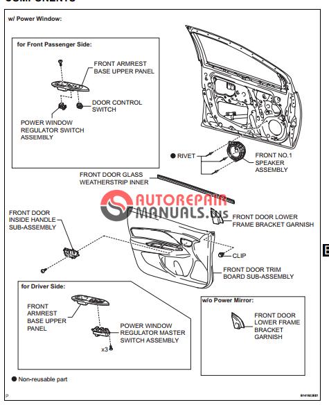 free download  toyota yaric repair manuals  engine hood