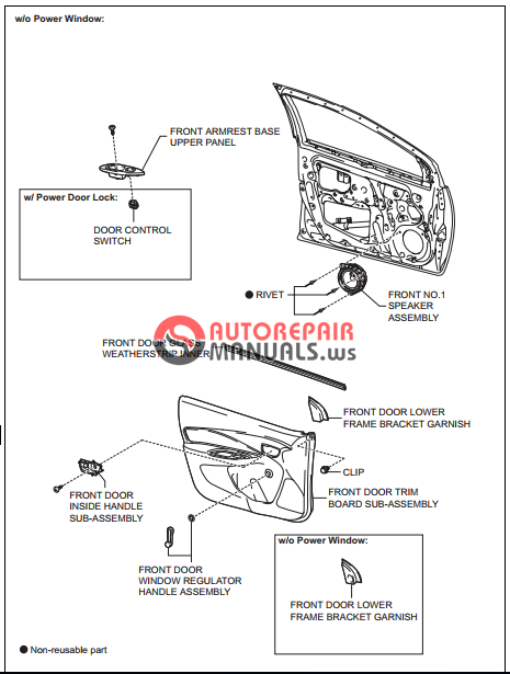 free download  toyota yaric repair manuals  engine hood