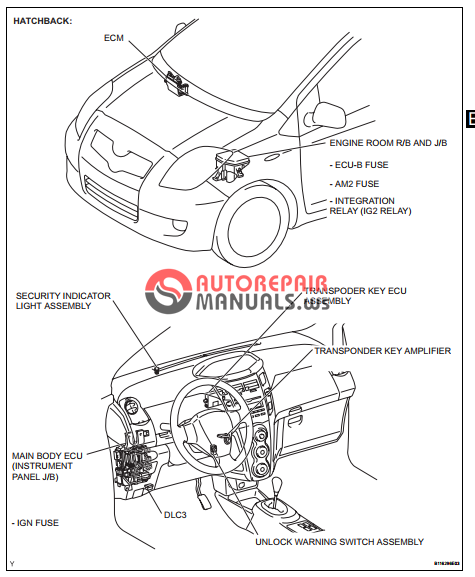 free download  toyota yaric repair manuals  engine