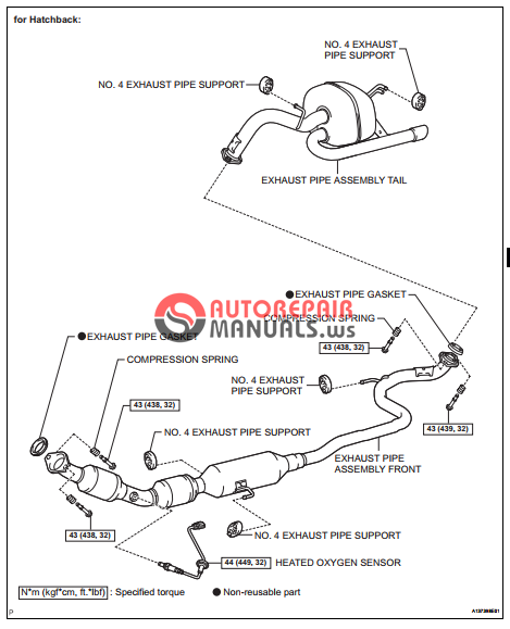 free download  toyota yaric repair manuals  exhaust pipe