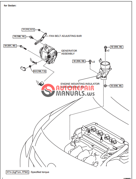 free download  toyota yaric repair manuals  lubrication