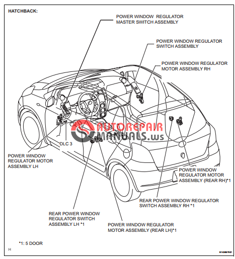 free download  toyota yaric repair manuals  windshiels