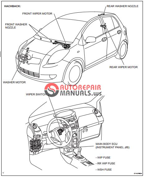 free download  toyota yaric repair manuals  wiper and
