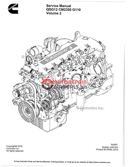 cummins engine qsg12 service manual
