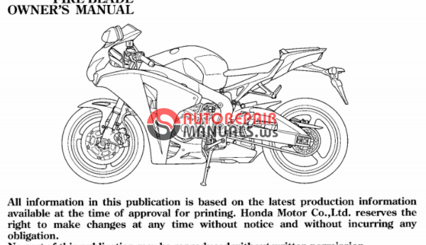 free download  2009 honda cbr 1000rr abs oweners manuals