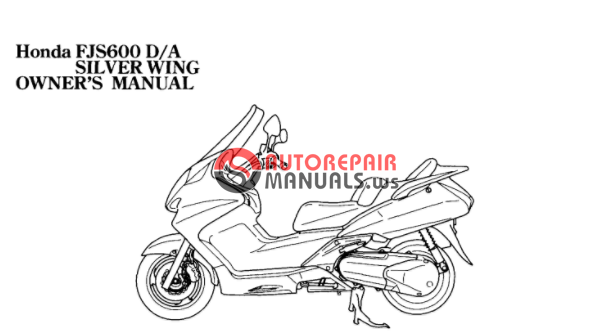 free download  2006 honda fjs 600 sliverwing oweners manuals