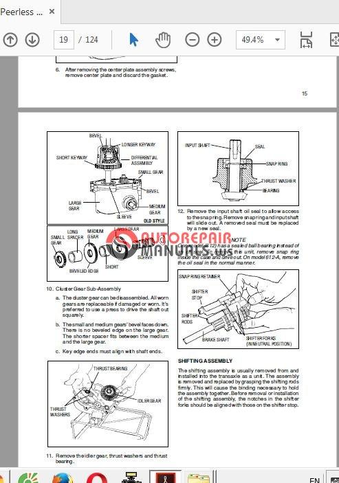 Tecumseh Peerless Transmission Drive Products Technician S