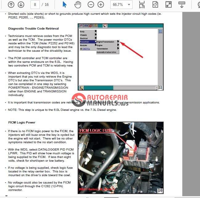 Ford Power Stroke Engine 6 0l Diagnostic Manual