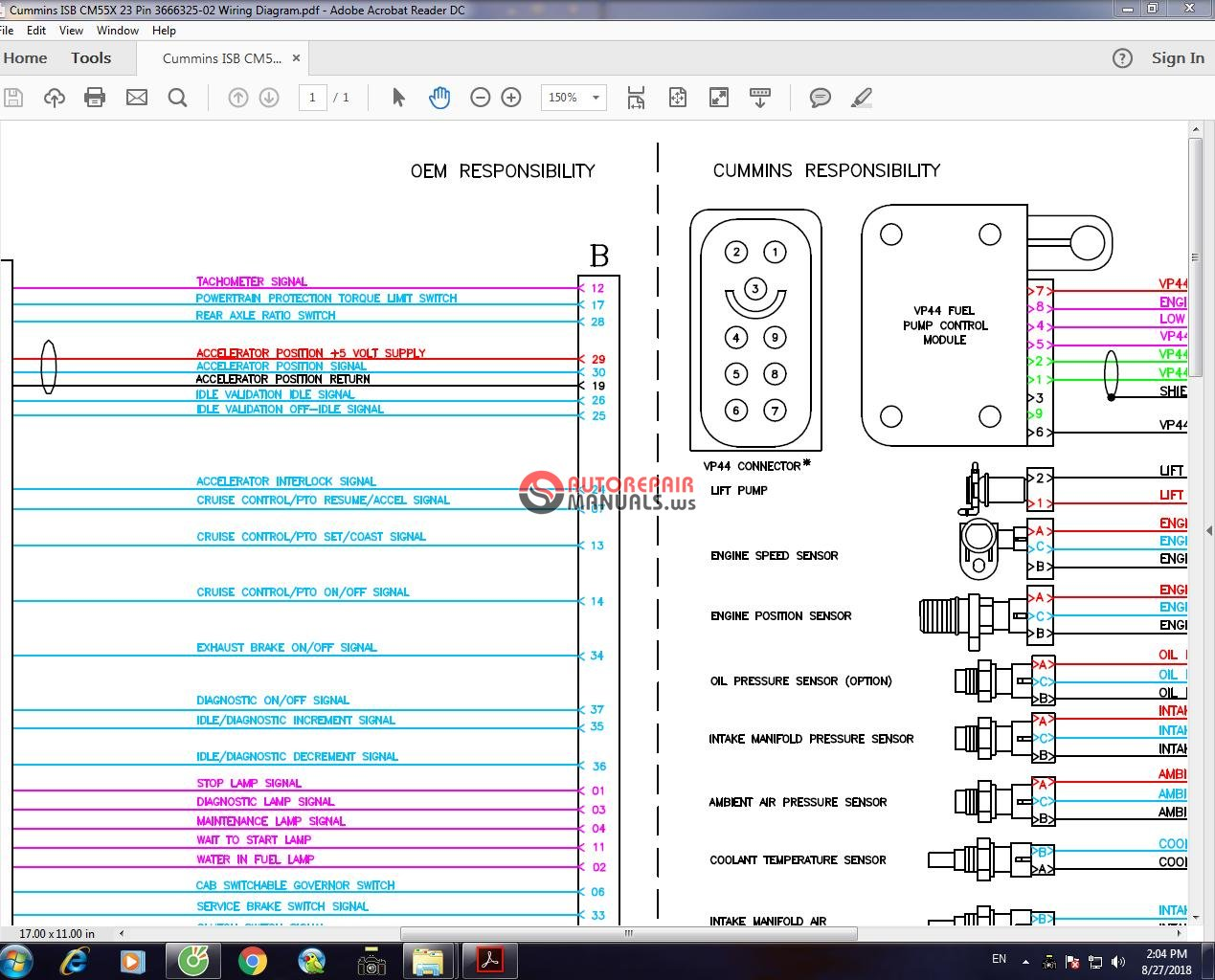 isb 23 pin wiring diagram cummins isb cm55x 23 pin 3666325-02 wiring diagram | auto ... isb after treatment wiring diagram #4