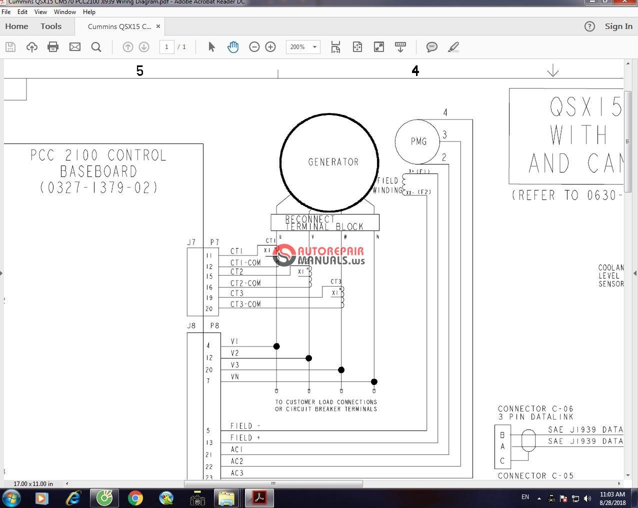 mins QSX15 CM570 PCC2100 JI939 Wiring Diagram | Auto ... on