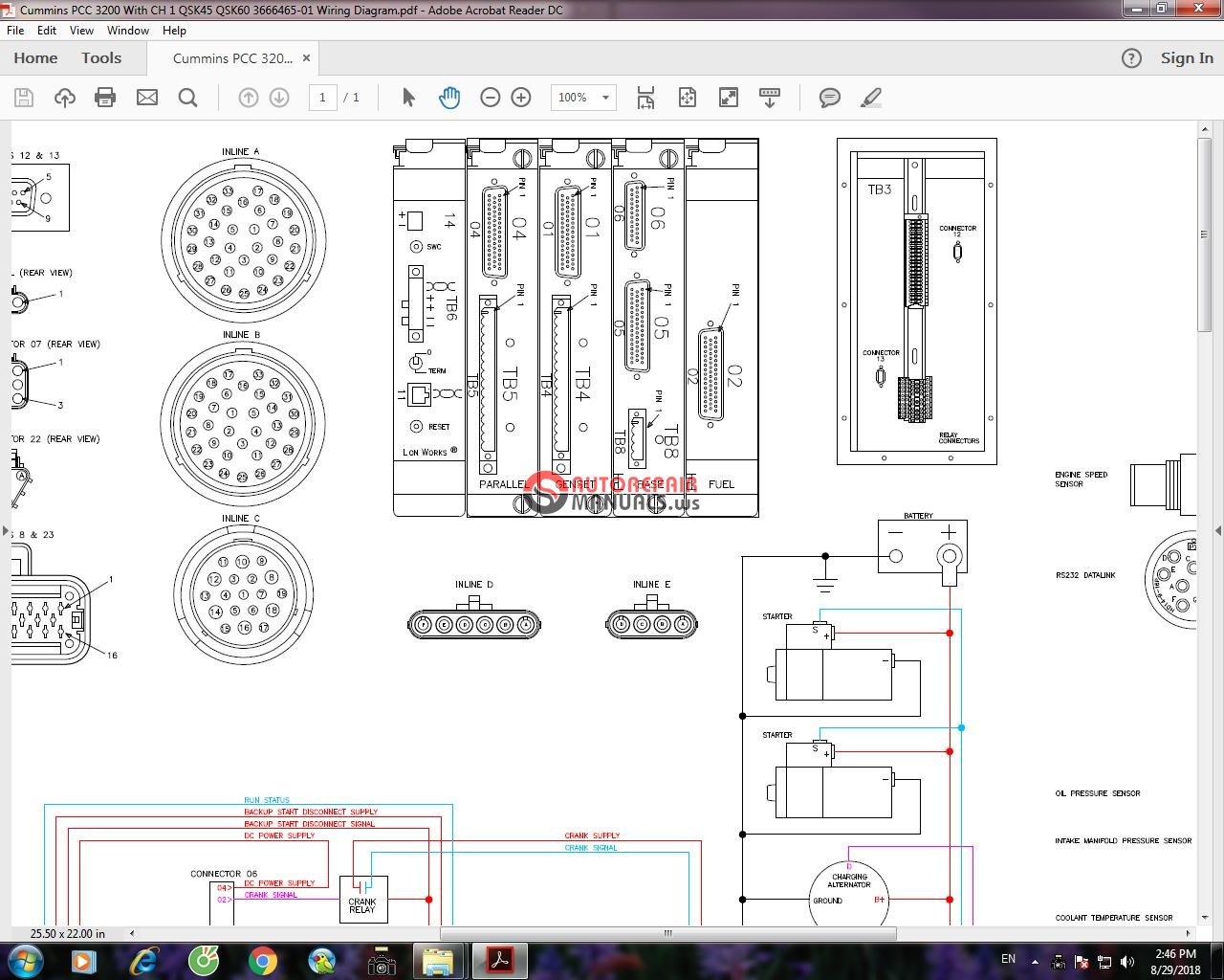 Wiring Diagram Cummins Qsx15