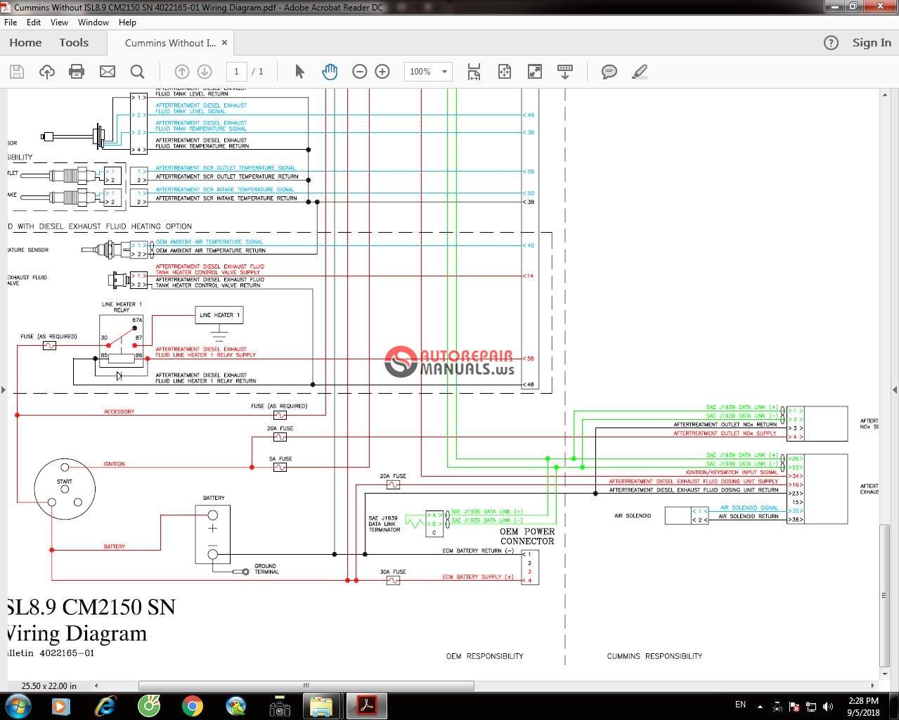 cummins without isl8 9 cm2150 sn 4022165 01 wiring diagram. Black Bedroom Furniture Sets. Home Design Ideas