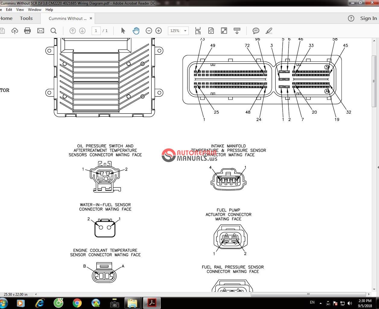 Cummins Without Scr Isf38 Cm2220 4021685 Wiring Diagram Auto 3