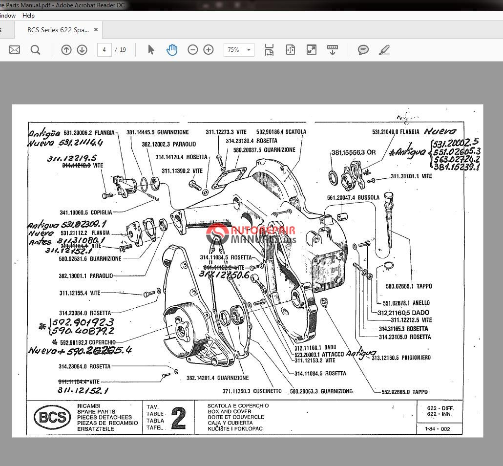 Select Products Parts Manual Guide