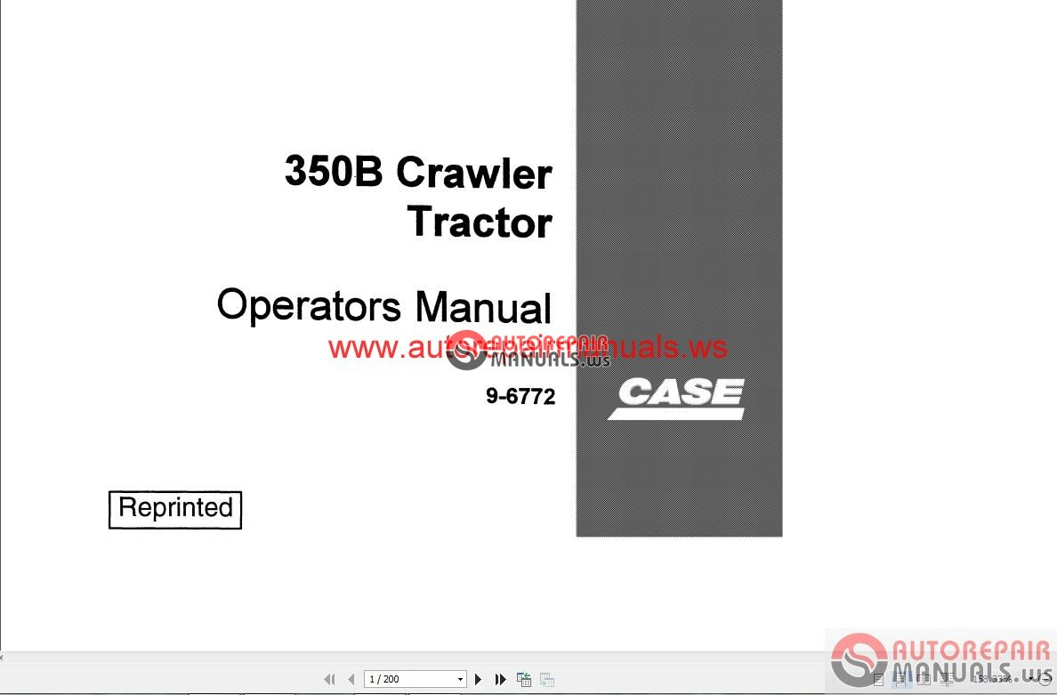 case dozer crawler operator s manual auto repair manual. Black Bedroom Furniture Sets. Home Design Ideas