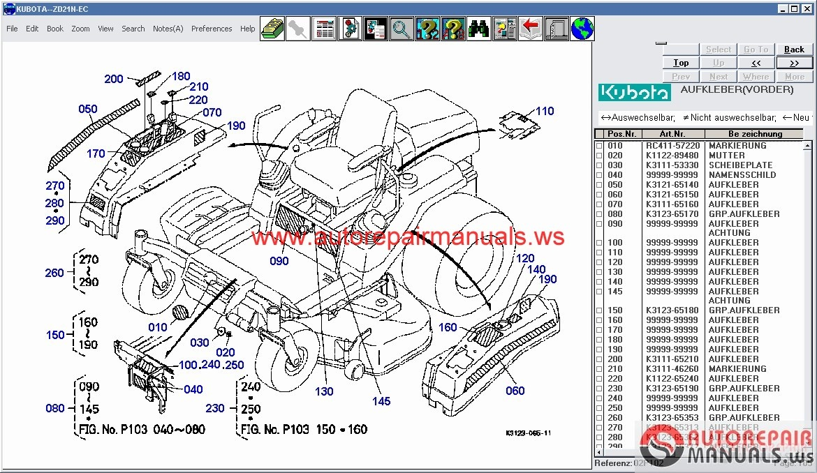 kubota f2880 parts diagram wiring library u2022 rh lahood co F3680 Kubota Mower Kubota F3680 Attachments