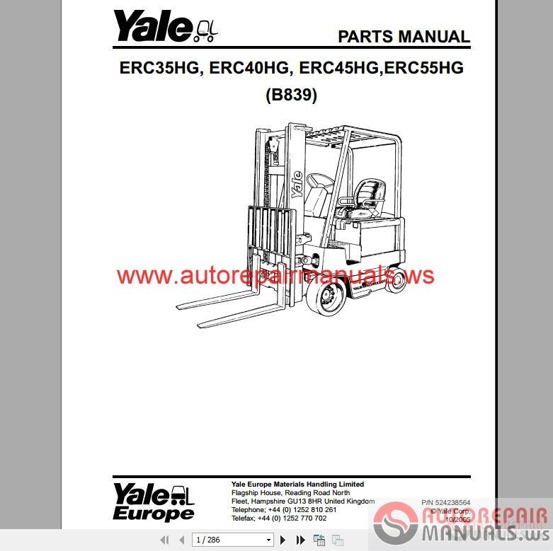 Yale forklift full set pdf parts manuals auto repair manual previous swarovskicordoba Choice Image