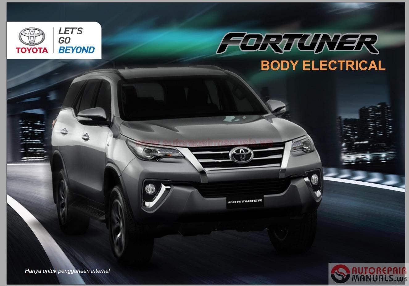 Wiring Diagram Toyota Fortuner Gallery Wiring Diagram